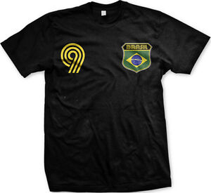 Brasil Brazil Country Flag Soccer Football Pentacampeões Futbol Mens T-shirt