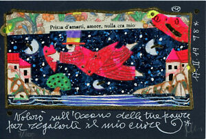 FRANCESCO MUSANTE - VOLERÒ SULL'OCEANO DELLE TUE PAURE -  serigrafia