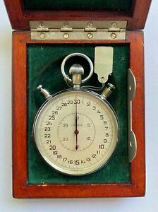 100% Original ! Soviet Vintage Pocket StopWatch Slava Mechanical Unused USSR