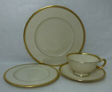 LENOX china WINDSOR M161 pattern Cup Saucer Salad Plate & Bread Plate Gold Stamp