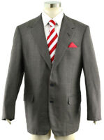 OXXFORD CLOTHES Men's 42L Bespoke Sport Coat Jacket Gray Check Full Canvas