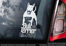 Bull Terrier - Car Window Sticker - Dog Sign -V07