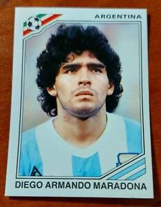 PANINI Soccer Sticker Card #171 DIEGO MARADONA MEXICO 86 World Cup Story 1990