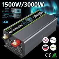 Spannungswandler 1500W/3000W 12V 230V Reiner Sinus Wechselrichter LCD Softstart