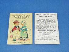 CHROMO CHOCOLATERIE FRANCO-BELGE HALLUIN NORD COSTUMES FRANCE LORRAINE