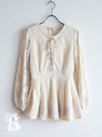 🌹LIZ LISA🌹Mini Sweater Dress Tunic Lace-Up Ivory Lolita Hime Japanese E674