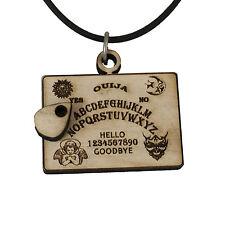 Ouija Board Necklace Raw Wood