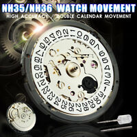 NH35/NH36 High Accuracy Automatic Mechanical Watch Wrist Movement Day Date US