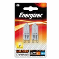 10 x G9 33w=40w ENERGIZER DIMMABLE ECO HALOGEN ENERGY SAVING bulbs Capsule 2-10