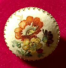 Vintage West Germany Coraline Sugar Glass Floral Brooch