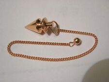 Pendulum copper point wave top,chain and holding bead 8 inch long