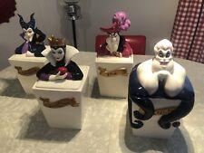 Disney Villains Rare 4 piece canister Cookie Jar Set