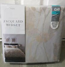 Next Jacquard Leaf King Size Duvet Cover Bed Set. BNIP