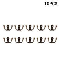 HB- 10PCS ANTIQUE ZINC ALLOY WALL DOOR HOOKS CLOTHES COAT HAT BAG TOWEL HANGERS