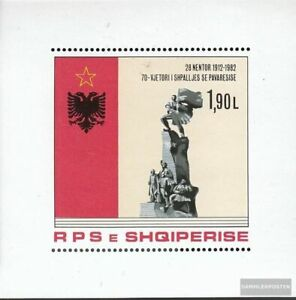 Albania Bloque 76 (completa edición) nuevo con goma original 1982 70 años indepe