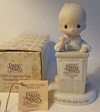 PRECIOUS MOMENTS 1981 CHARTER MEMBER BOY AT PODIUM FIGURINE E-0103 HOURGLASS MK.