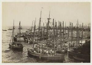 Penzance Fishing Boats 1890 Photo By Frith
