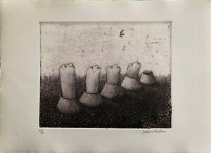 Giordano Frabboni incisione acquaforte 1972 Sequenza 50x35 firmata  numerata