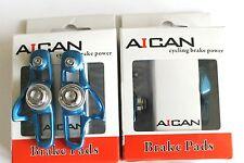 Aican Road bike brake Super Light holder shoes catridge fit Shimano, Blue, 2 pc