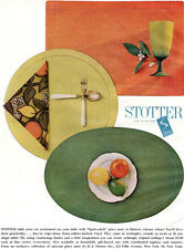 Stotter Spokestitch Table Place Settings ROUND Oval RECTANGULAR 1962 Print Ad