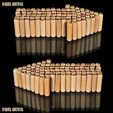 50, 8mm x 50mm cannelé hardwood goujon en bois pin pour ébénisterie, travail du bois