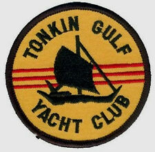 VIETNAM ERA COMMEMORATIVE NAM IRON-ON PATCH: Tonkin Gulf Yacht Club