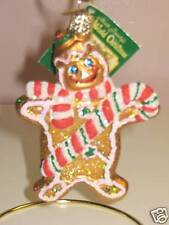 """Old World Christmas """"Gingerbread Man"""" Glass Ornt"""