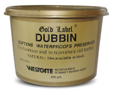 Gold Label Dubbin Black - 500G Leather Waterproof