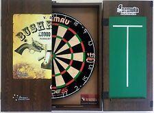 Winmau Blade 5 FIVE Dart Board & Bush Ranger Ned Kelly Cabinet + 6 x Darts Set