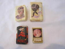 VINTAGE LOT OF 4 SMALL HAND SOAP BARS - MYRURGIA, YARDLEY LONDON, FEMALE FACES