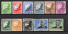 1934 Germany SC C46-C56 Used Airmail Set of 11, Otto Lilienthal, Zeppelin*