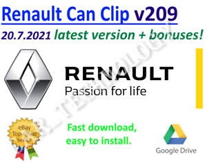 Renault Can Clip v209 latest version of 20 July 2021 + bonuses!