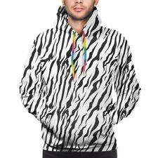 Mens Hoodie Zebra Clear Print Sweatshirt Sports Casual Clothes Thin Section