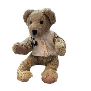 "Vintage 1995 Ganz Cottage Collectibles 15"" Dieter Plush Bear CC Knit Sweater"
