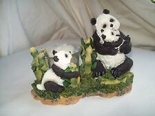 Panda Bears Votive Candle Holder~Solid Resin~New