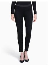 CALVIN KLEIN Faux Suede leggings Pants Dark Gray 90% Polyester 10% Spandex Sz XL