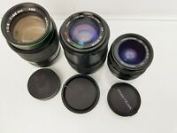 Joblot of 3 x Vintage Camera Lenses For **Parts/Repairs**