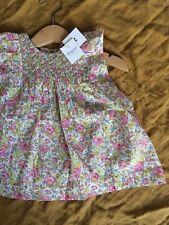 "BNWT Bonpoint ""Cadelili"" Baby Girl's Dress 6 Months LIBERTY Print Smock Floral"