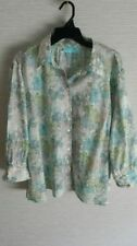 Button Down Shirt Hand-wash Only Floral Plus Size Tops & Blouses for Women