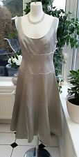 MONSOON Soft Satin Bridesmaids Cocktail Party Prom Dress UK 10 With silk trim