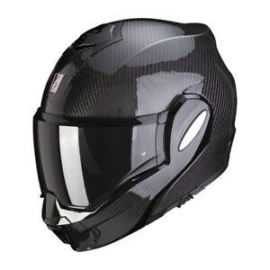 Scorpion EXO-TECH Carbon Modular Flip Back Motorradhelm XL mit Sonnenblende NEU