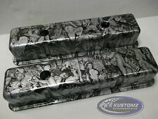 NEW CUSTOM SBC (SMALL BLOCK CHEVY) NAUGHTY BOY VALVE COVERS