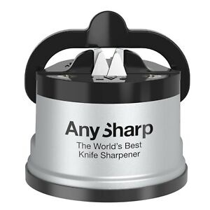 AnySharp World's Best Knife Sharpener, PowerGrip Suction, Original and Genuine