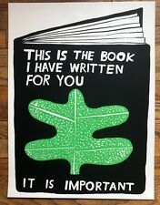 """NATHANIEL RUSSELL """"This is the Book I Have…"""" 2020 screenprint  signed Ltd/100"""