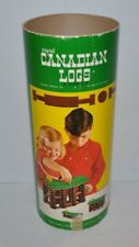 CANADIAN LOGS vintage Building Toy 1960s Somerville - wooden house toy