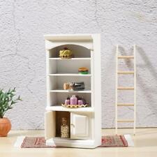 Dollhouse Miniature White & Lilac Bathroom Shelf Cabinet n inch scale 1:12 Z8U5