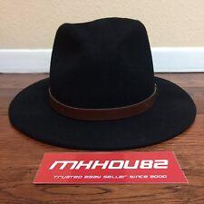 a129397568954 Brixton Messer Fedora Oversized Hat Natural Black Size Large L 7 1 2 - 8