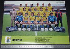CLIPPING POSTER FOOTBALL 1986-1987 FC SOCHAUX MONTBELIARD BONAL LIONCEAUX