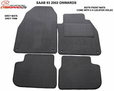 Fully Tailored Grey Car Mats to fit Saab 93 9-3 2002 to 2008 _Pre Facelift Model