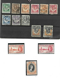 Rhodesia (northern) Stamps - Collection of 14 Nice Stamps Mint/Used